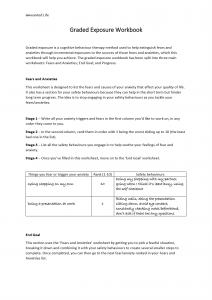 An image of the second page of the graded exposure workbook professional edition